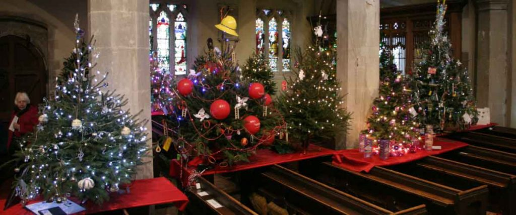 Christmas tree in church post image
